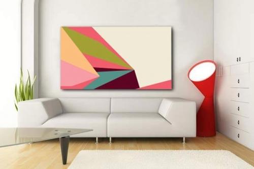 Tableau design abstrait Tintamarre