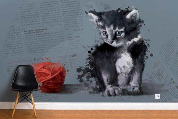 Papier Peint Deco Chat Raoul