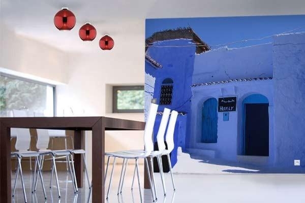 papier peint trompe l 39 oeil hammam izoa. Black Bedroom Furniture Sets. Home Design Ideas