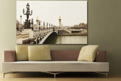 tableau contemporain pont paris izoa. Black Bedroom Furniture Sets. Home Design Ideas