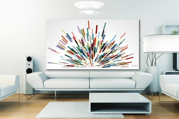 tableau abstrait expansion izoa. Black Bedroom Furniture Sets. Home Design Ideas