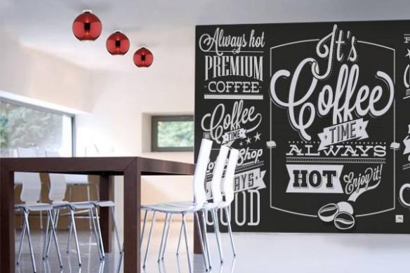 Papier Peint Design Pause Café