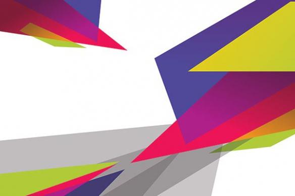 Tableau abstrait design Synopsis violet