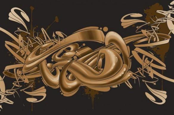 toile photo Graff marron