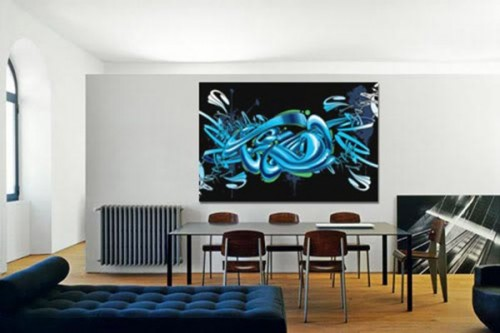 decoration bureau Tableau abstrait Graff
