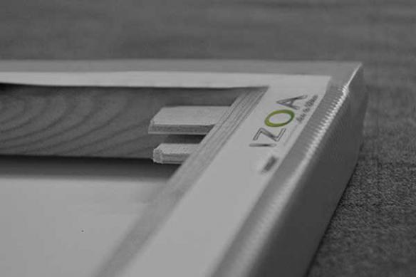 Châssis toile imprimée abstraite Onomatopées