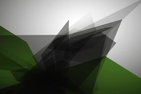 Papier peint design Tungstene vert
