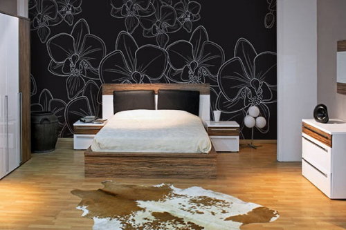 papier peint fleuri nature et tapisserie fleur izoa. Black Bedroom Furniture Sets. Home Design Ideas