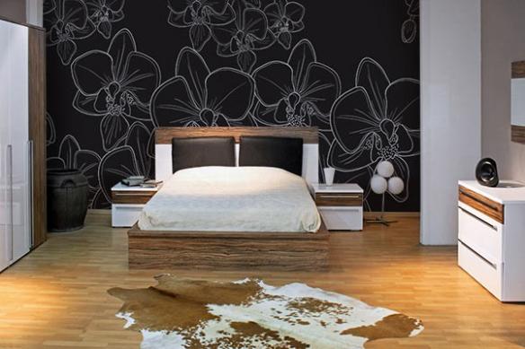Papier peint déco Têtes d'Orchidées