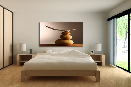 Tableau zen d coration murale zen izoa for Chambre adulte decoration murale