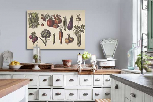 Tableau cuisine légumes du marché