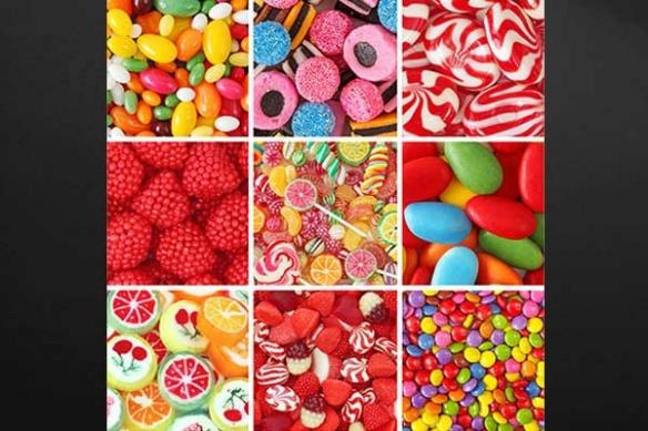 Tableau xxl sucreries d'enfance