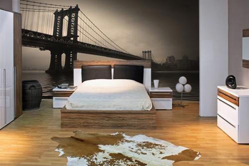 Papier peint new york avec un poster mural trompe l 39 oeil g ant izoa - Zara home papier peint ...