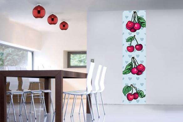 Papier peint lé unique cherry chérie