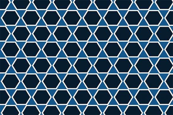 all over hexagone bleu