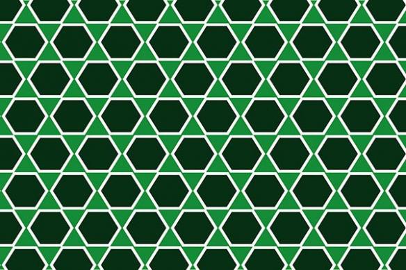 hexagone carreau ciment toile vert