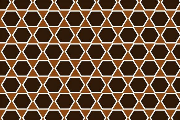 hexagone marron grillage