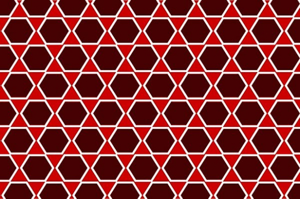 poster xxl hexagone rouge