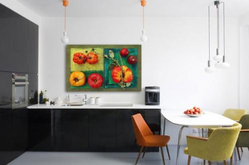 Tableau Déco Variétés de Tomates