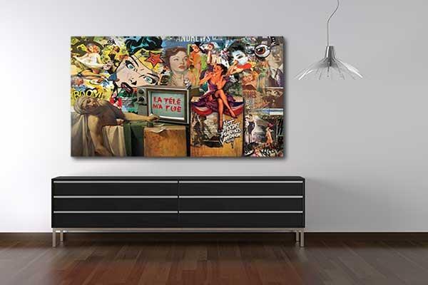tableau design tv tue. Black Bedroom Furniture Sets. Home Design Ideas