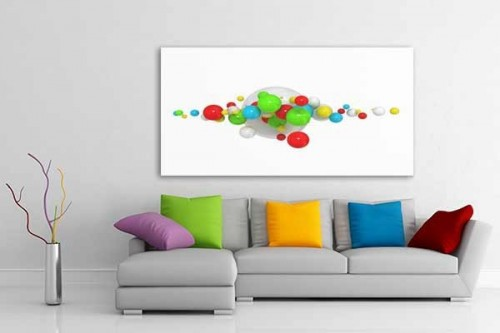 Tableau abstrait vente de tableaux abstraits pop art d coration murale izoa - Tableau colore design ...