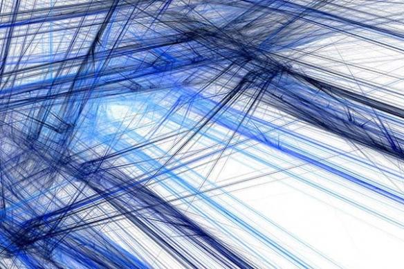 toile abstraite design tantale bleu