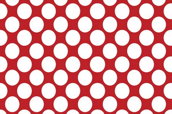 Papier peint abstrait pois blancs rouge
