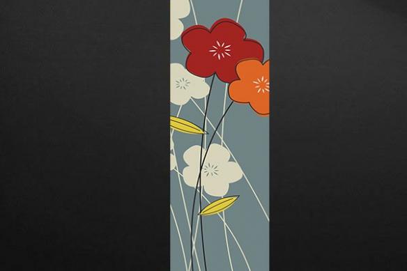 lé unique fleur bise gris