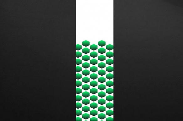 lé unique abstrait krone vert