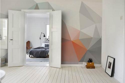 Papier peint forme géométrique magma