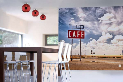 Papier peint photo café is here