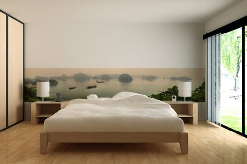 papier peint panoramique calanques izoa. Black Bedroom Furniture Sets. Home Design Ideas