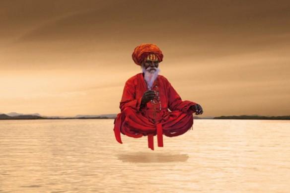 Tableau zen indou méditation