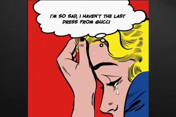 pop art deco blonde lichtenstein