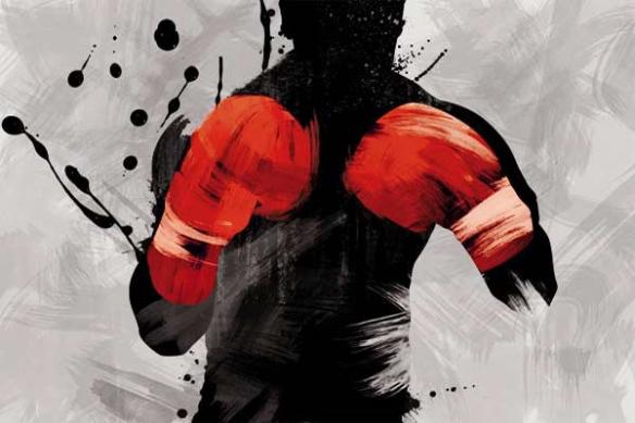 Boxeur peinture
