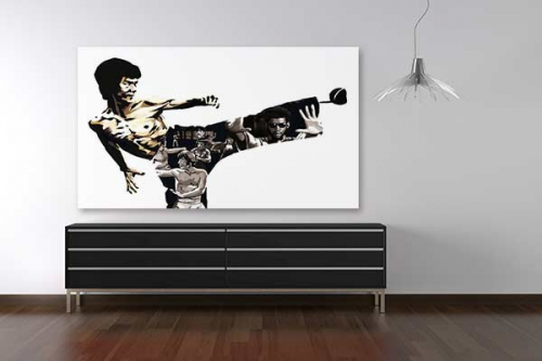 Tableau Bruce lee by Dogan Oztel