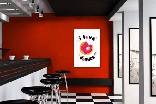 Tableau moderne I love donuts par Noox