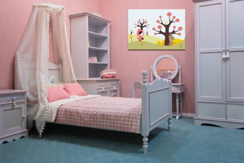 Tableau décoration chambre enfant Petit Chaperon Rouge