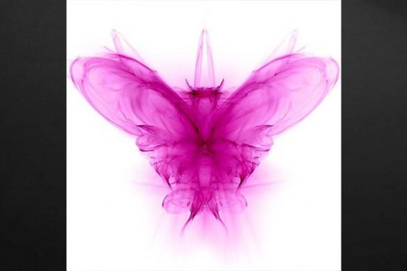 Tableau abstrait papillon psychiatre