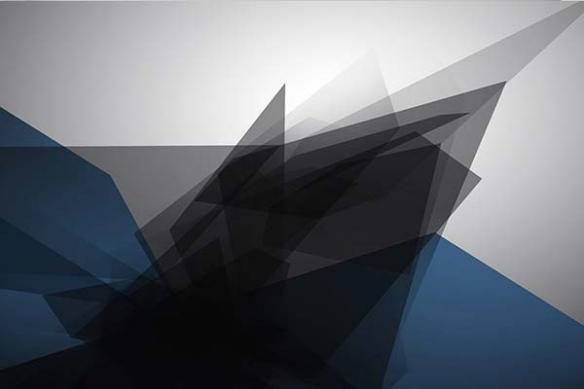 Tableau abstrait murale tungstène bleu