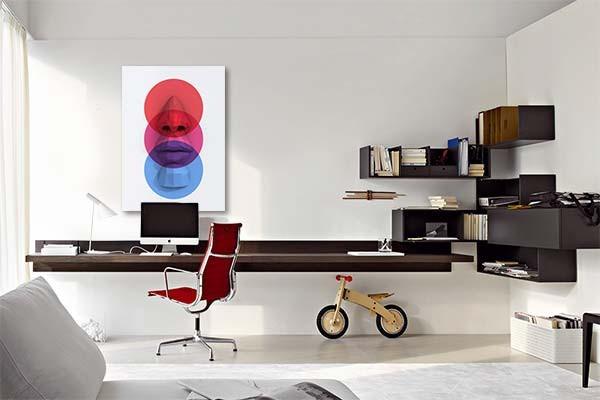 tableau abstrait visage contemporain izoa. Black Bedroom Furniture Sets. Home Design Ideas