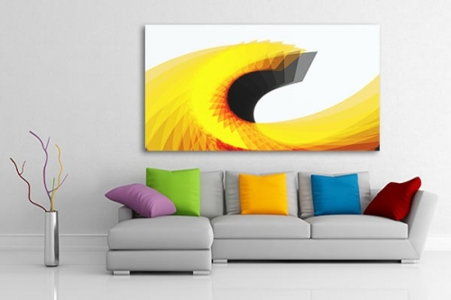 Tableau abstrait salon wave