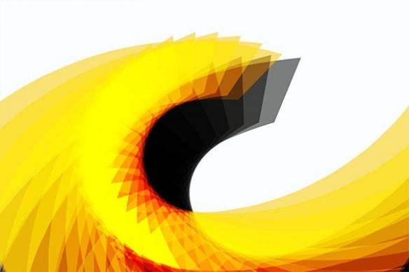 Tableau abstrait wave