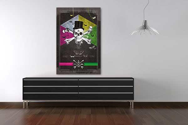 toile d coration t te de mort. Black Bedroom Furniture Sets. Home Design Ideas