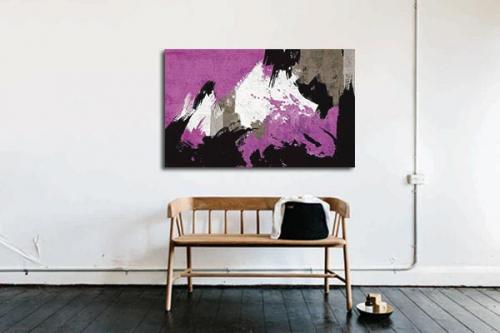 Tableau abstrait paint violet