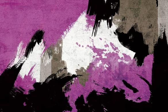 peinture abstraite déco violet