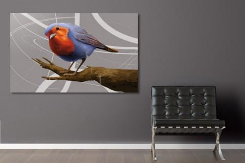 déco salon design moinneau oiseau