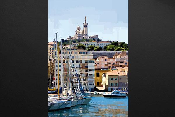 Vieux Rose Chambre : Tableau photo vieux port marseille izoa