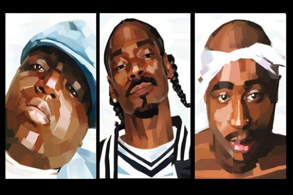 snoop dog tupac the notorious big déco mur