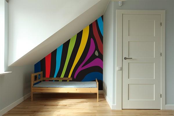 papier peint design arc en z bre izoa. Black Bedroom Furniture Sets. Home Design Ideas